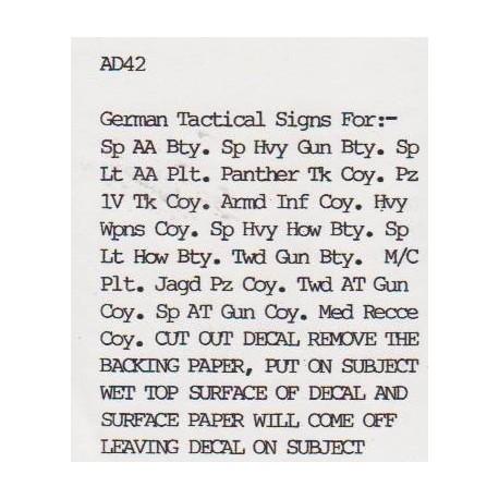 AD42 German Tactical Signs