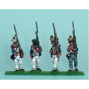 Fusiliers marchando nerviosos