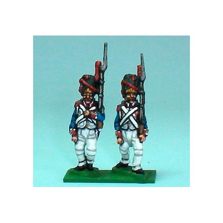Grenadiers with bearskin marching