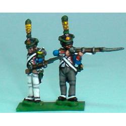 Granaderos / Voltigeurs disparando y recargando