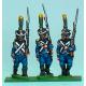 Carabineros / Voltigeurs marchando con shako