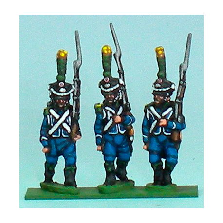 Carabiners / Voltigeurs marching with shako