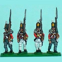 Compañía de flanco británica marchando