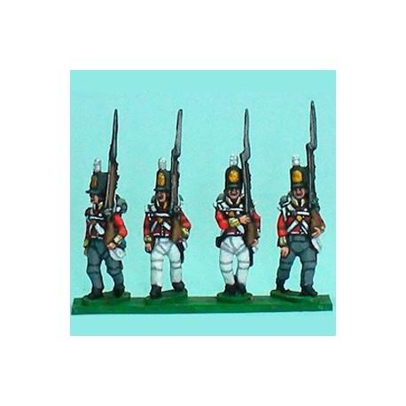 British Flank Company marching
