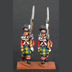 Highlands Infantry flanking company marching with kilt