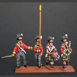 Infantería de las Highlands grupo de mando