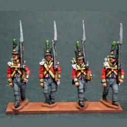 Infantería ligera marchando