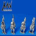 Spanish riflemen with bicorn marching 2