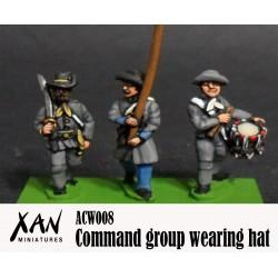 Grupo de mando con sombrero