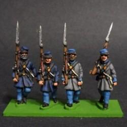 Infantería en levita y kepi