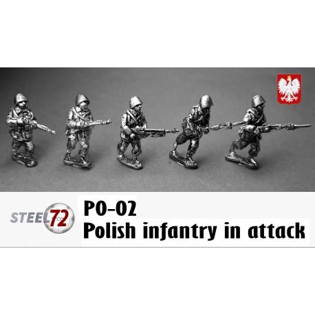 Polish infantry in attack