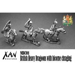 British Heavy Dragoons with bicorne chraging