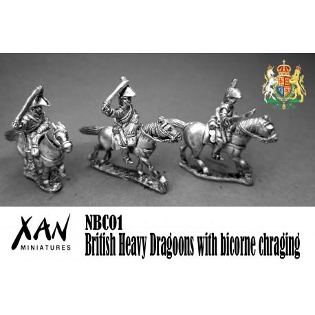 British Heavy Dragoons with bicorne chraging