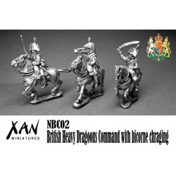British Heavy Dragoons Command with bicorne chraging