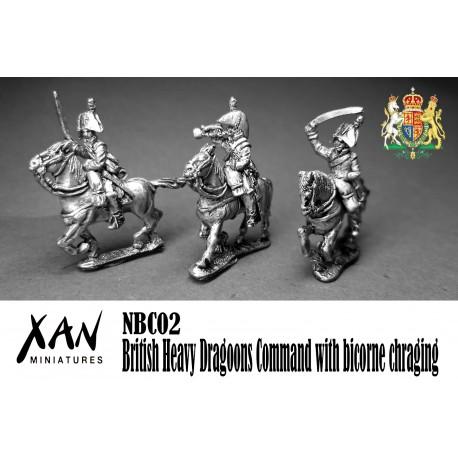 British Heavy Dragoons Command with bicorne chraging
