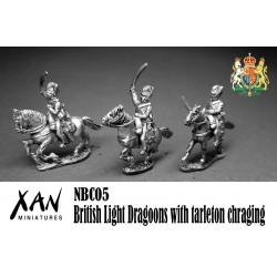 British Light Dragoons with tarleton chraging.