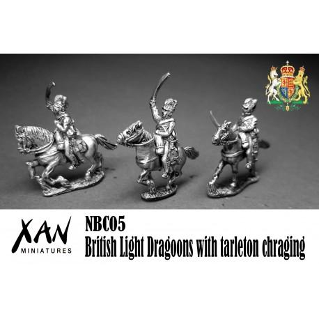 British Light Dragoons with tarleton chraging.
