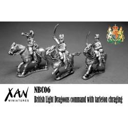 Mando de Dragones Ligeros con tarleton cargando