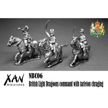 British Light Dragoons command with tarleton chraging