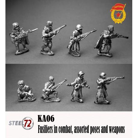 Infantería un combate, armas mixtas