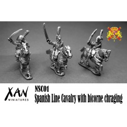 Spanish Line Cavalry with bicorne chraging