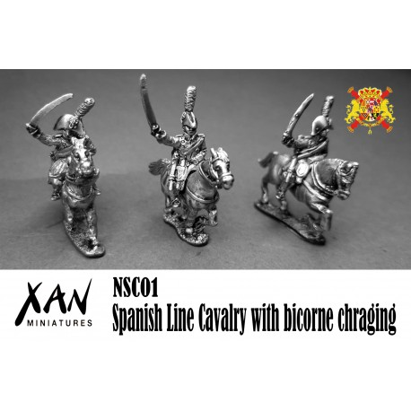 Spanish Line Cavalry with bicorne chraging
