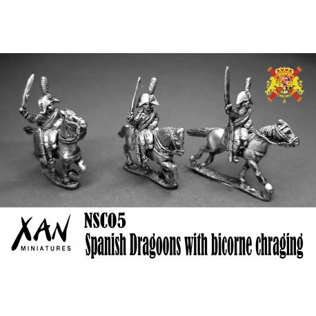 Spanish Dragoons with bicorne chraging